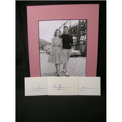 Anthony Perkins and Jane Fonda Autographs