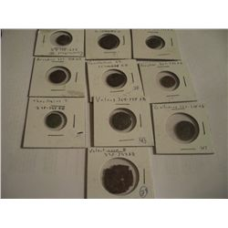 10 Rare Ancient Coins, Different Eras, About 1600 years Old Ea