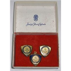 **FEATURED** Authentic 1973 Richard NIXON*INAUGURAL BALL* Cuff Links and Pendant in Original *PRESID