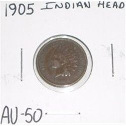 1905 Indian Head Penny RARE *AU-50 HIGH GRADE NICE COIN*!!!