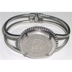1961 50 SEN Republik Indonesa Coin Bracelet - Excellent Condition!!