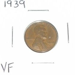 1939 Lincoln Penny *VERY FINE GRADE*!!