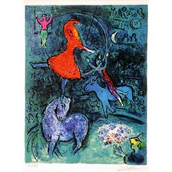 Marc Chagall  Signed Limited Edition - Circus Acrobats