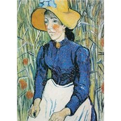 Peasant Woman against a Background of Wheat by Vincent Van Gogh  Lithograph