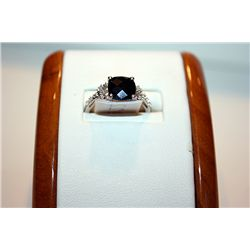 Lady's Very Fancy 14 kt White Gold Black & White Diamond Ring
