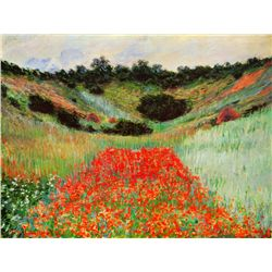 Poppy Field Giverny - Monet - Limited Edition on Canvas