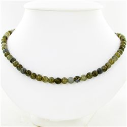 150ct Natural Labradorite Beads Silver Clasp  (JEW-3809)