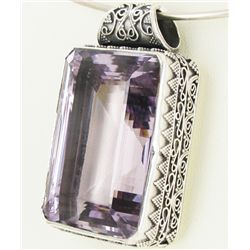 295twc Purple Pink Amethyst Sterling Pendant (JEW-3333)