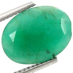 4.70ct Emerald Oval Green Afghan (GEM-17140)