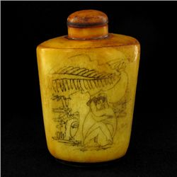Kamasutra Chinese Bone Snuff Bottle (CLB-951)