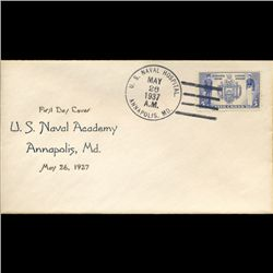 1937 US 5c Navy First Day Cover RARE (STM-1665A)