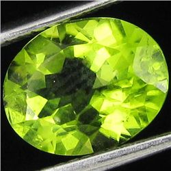 2.55ct Lustrous Green Peridot Oval (GEM-18777B)