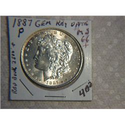 1887-P MORGAN DOLLAR