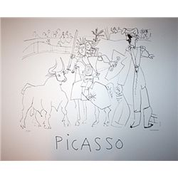 Chevalier, Picador dans le Arena - Limited Edition Picasso Lithograph from the Marina Picasso Collec