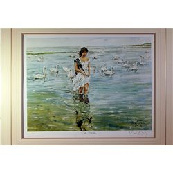 King Double Signed Photo Lithograph - Swan Maiden