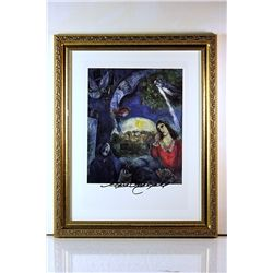 Marc Chagall Original Lithograph - Wedding Over City