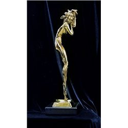 Icart Limited Edition 24K Gold Layered Bronze Sculpture- Illusion