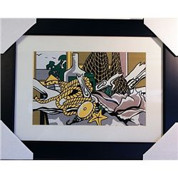 Roy Lichtenstein Limited Edition- Still Life with Net, Shell, Rope and Paper