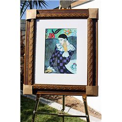 Leaning Harlequin  - Picasso - Limited Edition