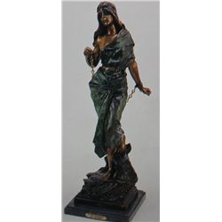 """Woman In Bondage"" Bronze Sculpture - Villanis"