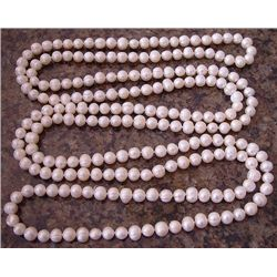 "Genuine 40"" White Cultured Pearl Necklace"