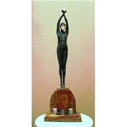 "Chiparus - ""Starfish Dancer"" -Bronze And Ivory Sculpture"