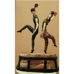 """Russian Dancers"" -Bronze And Ivory Sculpture"