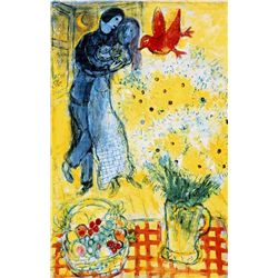 Marc Chagall  Lovers &amp; Daises 