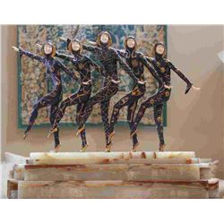 "Chiparus - ""Chorus Line"" -Bronze And Ivory Sculpture"