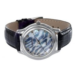 Badavici White Topaz Face Watch