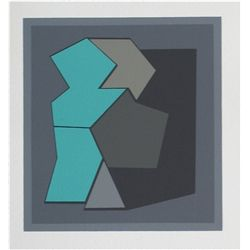 Vasarely Color Silkscreen, 1959