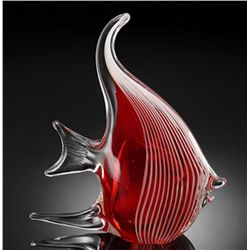 Beautiful Art Glass Angel Fish
