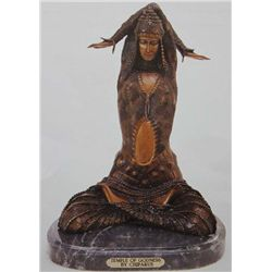 """Temple Of Godness"" Bronze Sculpture - Chiparus"