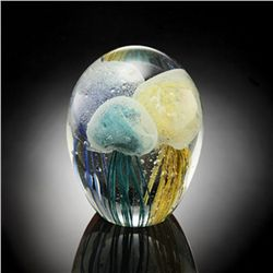 Art Glass 3 Color Jellyfish Glow In The Dark