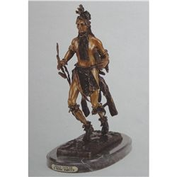 """Indian Dancer"" Bronze Sculpture - Remington"