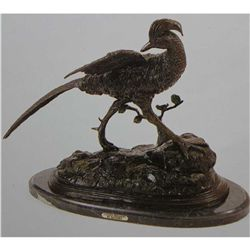"""Golden Pheasant"" Bronze Sculpture - Moigniez"