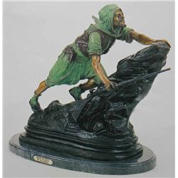 Arab On Rock  Bronze Sculpture - Gulleman