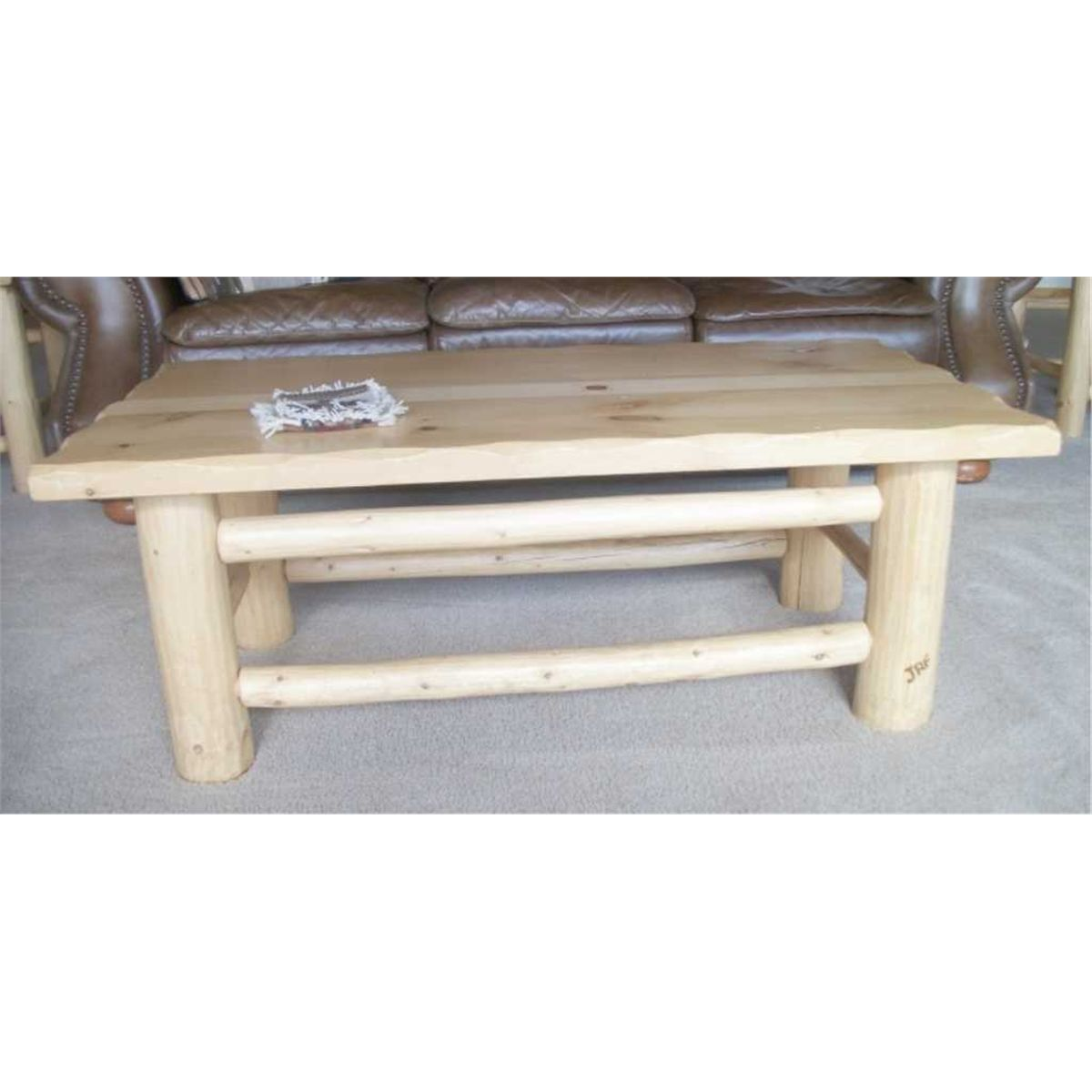 Log living room table set no internet bids on these items for Living room no coffee table