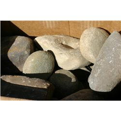 Box of Nutting Stones, Grinders & Miscellaneous