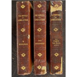 3 Lord Lytton Antique Books Godolphin Disowned Pilgrims