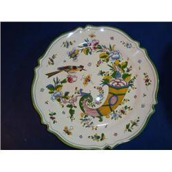 French hand painted plate signed by artist Renoleau