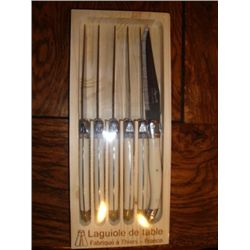 Set of 6 French authentic steack LAGUIOLE knives