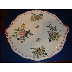 French hand painted dish platter signed by artist