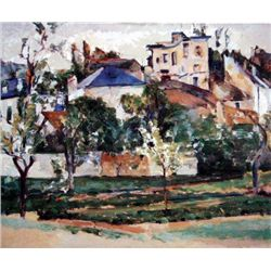 The Garden of Maubuisson By Cezanne Giclee on Canvas