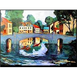 Canal by Baker - Rare Venice Canal Print