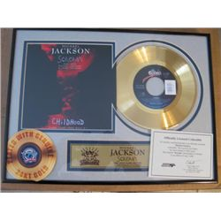 Michael Jackson 24 kt. Gold plated Record Scream