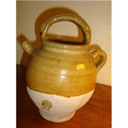 French pottery Gargoulette pitcher Provence circa 1940