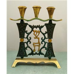Vintage Brass Shabbat (Sabbath) Candle Holders