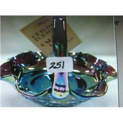 Carnival Fenton Glass Basket