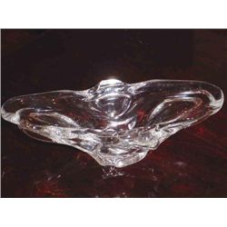French Crystal dish of Lorraine Eastern France